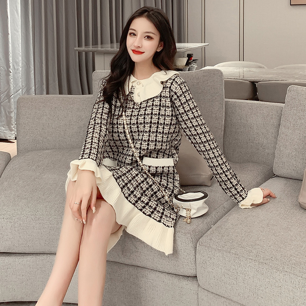 絕版出清 韓國小香風毛衣裙慵懶套頭針織長袖洋裝