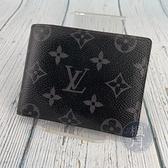 BRAND楓月 LOUIS VUITTON LV 路易威登 M61695 黑色原花短夾 錢包 皮夾 錢夾 二折 帆布塗層