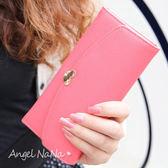 女長夾韓版簡約風  小愛心 馬卡龍色 金屬水鑽 /皮夾/零錢包 (SMA0089)AngelNaNa