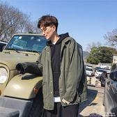 外套男春秋韓版休閒學生牛仔衣寬鬆長袖翻領青年夾克潮流 深藏blue
