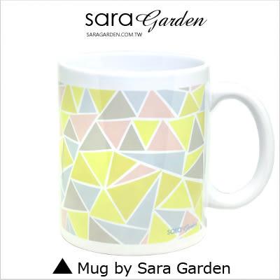 客製 手作 彩繪 馬克杯 Mug 馬卡龍色 三角 撞色 圖騰 咖啡杯 陶瓷杯 杯子 杯具 牛奶杯 茶杯