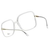 DIOR 光學眼鏡 SO STELLAIRE O1 900 (透明) 透亮氣質 方框 齊恩世 配戴款 鏡框 鏡架 # 金橘眼鏡