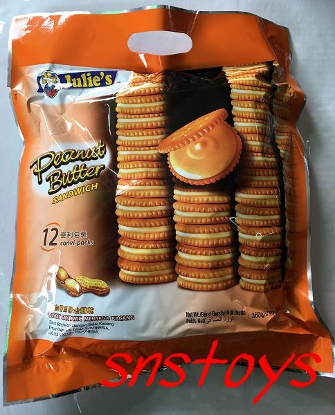 sns 古早味 懷舊零食 夾心餅 茱蒂絲花生醬三明治餅乾 茱蒂絲 花生醬餅乾 12便利包裝 360g