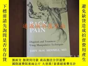 二手書博民逛書店英文原版:BACK罕見PAIN Diagnosis and Tr