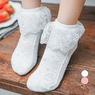 小公主蕾絲大花邊船襪 童襪 襪子 短襪