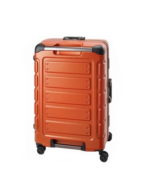 CROWN皇冠 Traveler Station 22吋悍馬鋁框箱 行李箱/旅行箱-橘色 CFE258