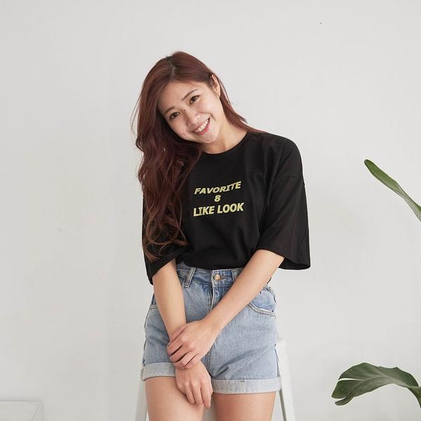 韓國女裝 Favorite 8 Like Look雙面英文拼字短袖T恤【C1069】