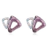 水晶耳環 925純銀(耳針式)-鑲鑽甜美生日情人節禮物女飾品2色73bd126【時尚巴黎】
