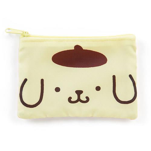 《Sanrio》布丁狗可愛雙面圖案防潑水扁平面紙化妝包(大臉) 279706