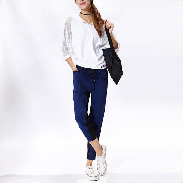 不對稱緹花哈倫褲 TAQ10656- 百貨專櫃品牌 TOUCH AERO 瑜珈服有氧服韻律服