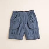 【金安德森】色紗牛津配格五分褲-藍色