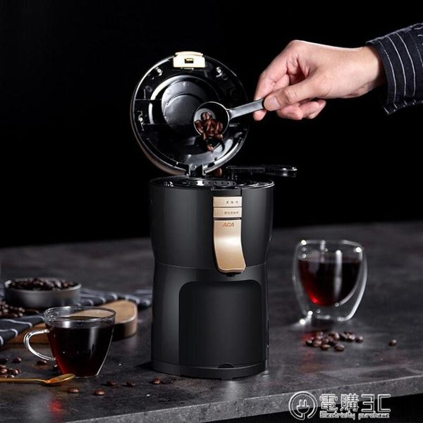220V美式家用便攜小型全自動迷你磨豆辦公網紅咖啡機WD 電購3C