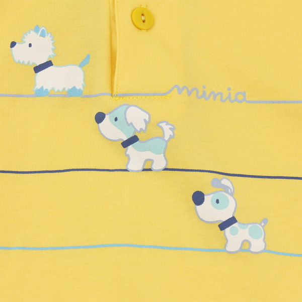 【愛的世界】純棉小狗短袖POLO衫/8歲-台灣製-n8  - ---春夏上著 夏出清