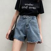 牛仔短褲牛仔短褲女夏季外穿高腰寬鬆闊腿同款a字熱褲潮新年禮物