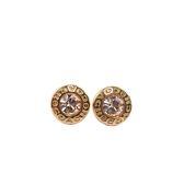 【COACH】圓形耳針式耳環(金色)F54516 GLD