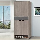 【水晶晶家具/傢俱首選】CX1612-1 卡特3×6尺低甲醛防著耐磨木心板高鞋櫃