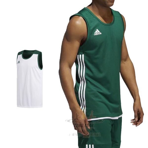 Adidas 3G Speed 愛迪達 球衣 綠 白 雙面穿團體籃球服 球衣 透氣 上衣 刺繡 無袖 背心 DY6589