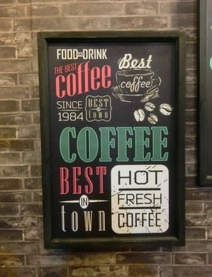 [協貿國際]   字母版畫咖啡廳帶框牆面裝飾畫裝飾品  (1入)