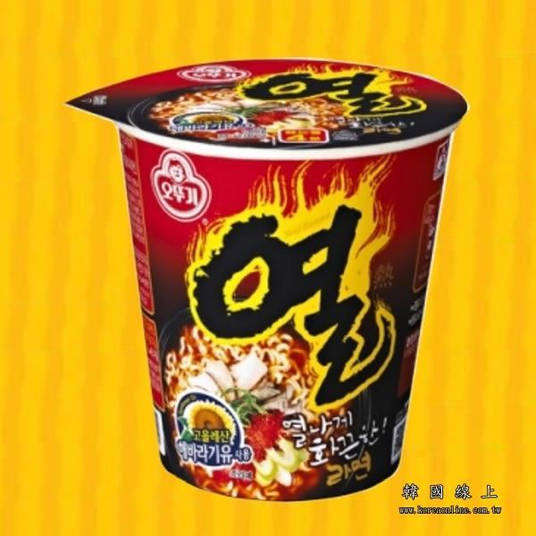 韓國OTTOGI 不倒翁辛辣杯麵-62g  全球十大辣麵TOP3