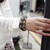 手環 個性 寶石 鑲崁 珍珠 氣質 手鐲 手環 手飾【DD38301】 ENTER  09/05