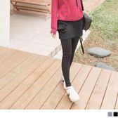 《BA4640-》柔軟彈性休閒口袋內搭褲裙 OB嚴選
