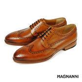【MAGNANNI】經典翼紋德比紳士皮鞋 棕色(15884-CUE)