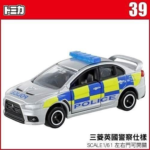 【 TOMICA火柴盒小汽車 】TM039 MITSUBISHI 三菱英國警察仕樣警車 ╭★ JOYBUS玩具百貨