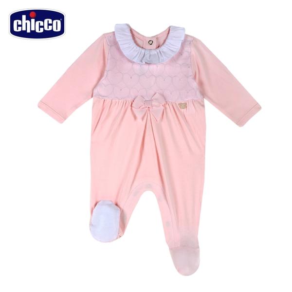 chicco-愛心小兔-愛心刺繡網紗後開長袖兔裝