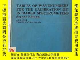 二手書博民逛書店tables罕見of wavenumbers for the c