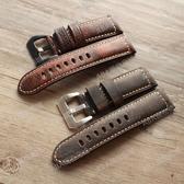 沛手工意大利頭層小牛皮表帶錶帶20 22 24 26MM適配沛納海罐頭男真皮表鏈