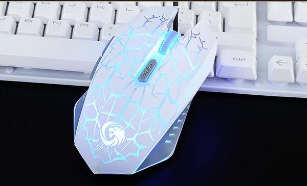 X12有線滑鼠 靜音無聲游戲滑鼠
