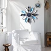 掛鐘地中海北歐式客廳創意時尚藝術兒童靜音臥室時鐘家用掛錶大掛YJT