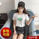 【DIFF】韓版夏裝新款寬鬆卡通短袖上衣...