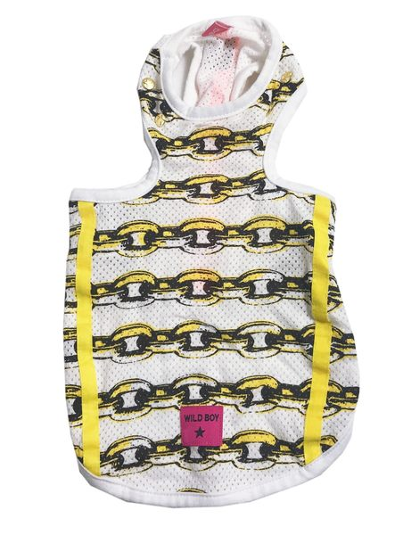 [熊熊e-shop]黃色鎖鏈背心 SS號、DS號 寵物衣服 狗衣服