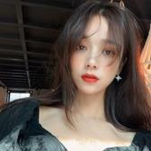 王炸款~八芒星月亮氣質耳環女韓國簡約百搭耳釘個性不對稱耳夾
