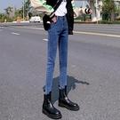 2020年新款修身牛仔褲女秋冬季九分加絨加厚緊身小腳鉛筆褲潮顯瘦 童趣潮品