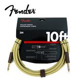 【敦煌樂器】FENDER Deluxe SS Tweed 樂器導線 三公尺 經典黃格紋