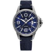 elegantsis JT55A 復古潮流機械腕錶/藍