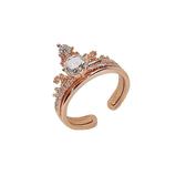 戒指 網紅兩件套可拆分皇冠戒指韓國時尚百搭水鑚指環食指戒女 莎瓦迪卡