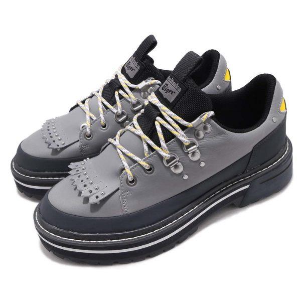 【六折特賣】Asics 休閒鞋 MNR AP ANDREA POMPILIO 灰 黃 皮革 靴子 男鞋 女鞋 亞瑟士【PUMP306】D7W2L9695