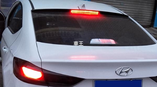 【車王小舖】現代 Hyundai Super Elantra 壓尾翼 頂翼 後遮陽 韓版帶燈頂翼