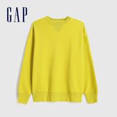 Gap男裝 簡約風格純色圓領休閒上衣 627535-黃色