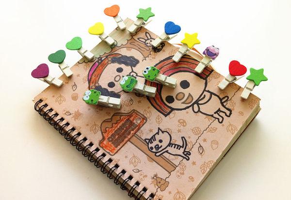 【韓風童品】(10入/組)裝飾木夾 工藝小木夾 裝飾夾 拍攝背景裝飾夾 木質工藝品麻繩掛飾