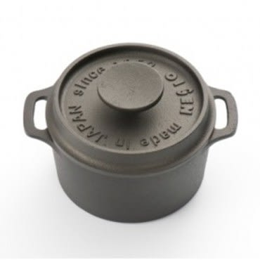 日本《OIGEN》南部鐵器及源鑄造鑄鐵迷你烤鍋圓型款