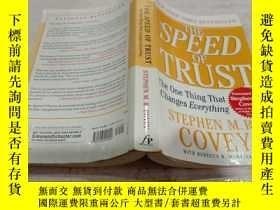 二手書博民逛書店The罕見Speed of Trust: The One Thing That Changes Everythin