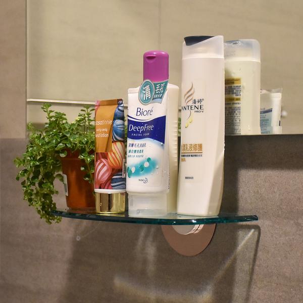 24cm壓克力平台置物架 無痕掛勾 易立家生活館 舒適家企業社 浴室用品化妝品收納架