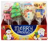 【嘉騰小舖】聖誕棉花糖(非素食) 每盒180公克(12支),產地馬來西亞,棉花棒棒糖 [#1]{105-705}