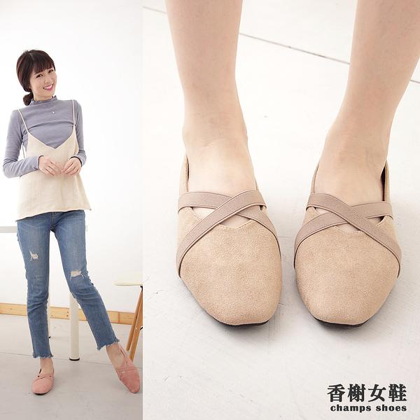 娃娃鞋。芭蕾名伶方頭平底包鞋 香榭