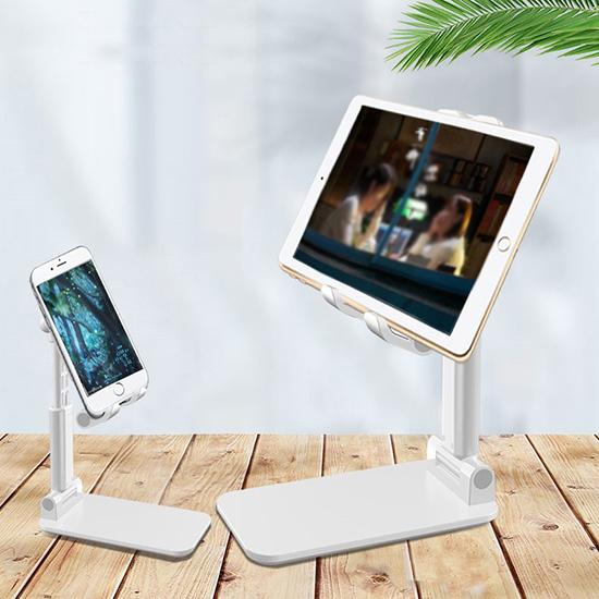 平板架 手機架 追劇 支撐座 可折疊 懶人支架 可調節 桌面手機支架(摺疊式)【R037】生活家精品