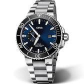 ORIS 豪利時 AQUIS小秒盤潛水機械錶 0174377334135-0782405PEB